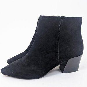 Kensie Lyden Suede Leather Ankle Booties 10 Black